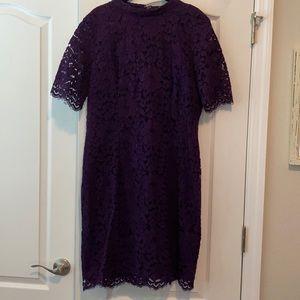 Purple lace overlay dress